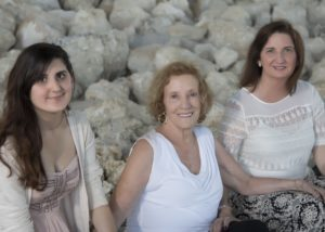 Daughter Sara, Mom and I